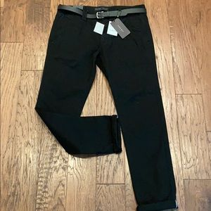 Zara relaxed fit 36 chino pants black